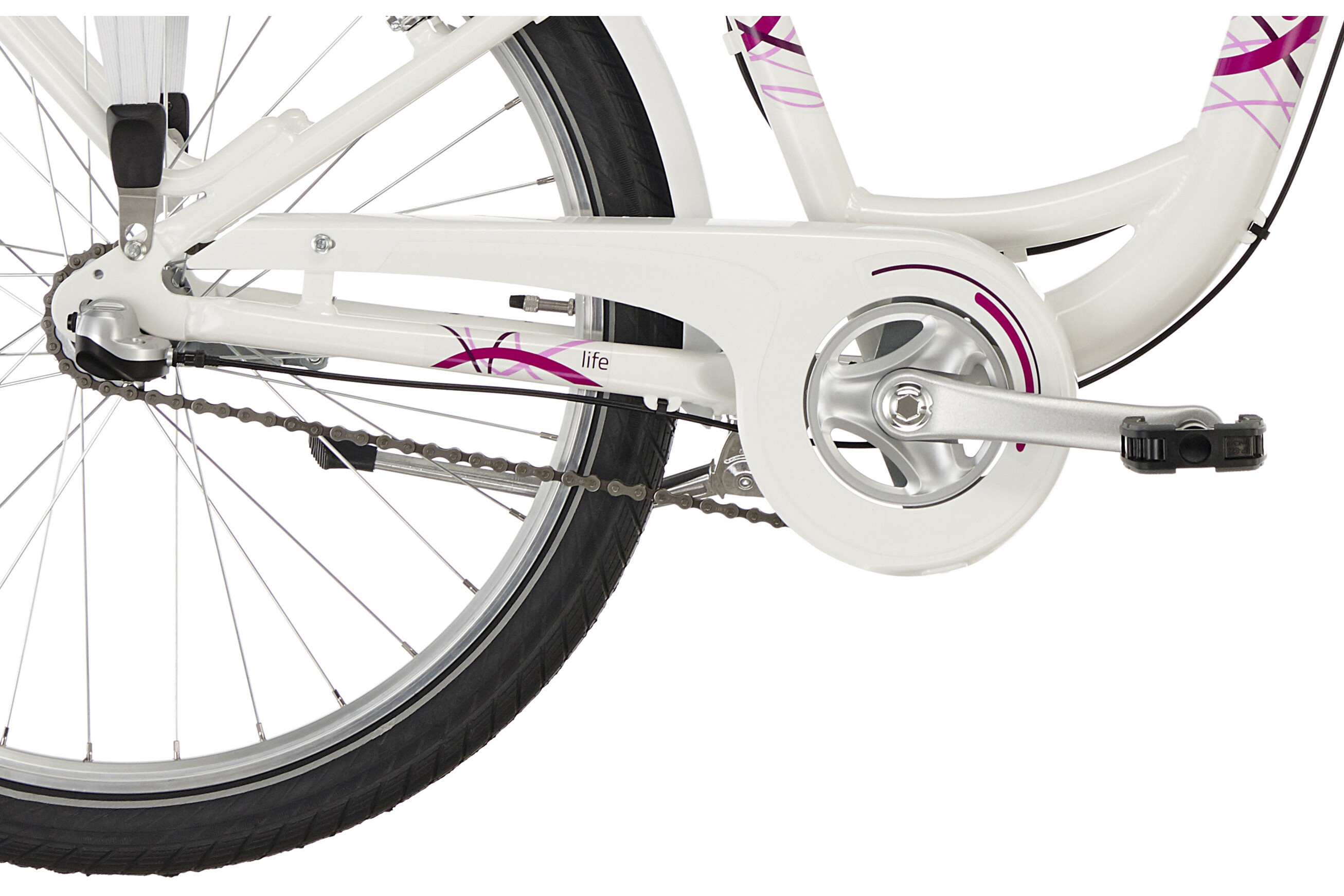 puky skyride light 24 fahrrad 3 gang m dchen wei g nstig kaufen br gelmann. Black Bedroom Furniture Sets. Home Design Ideas